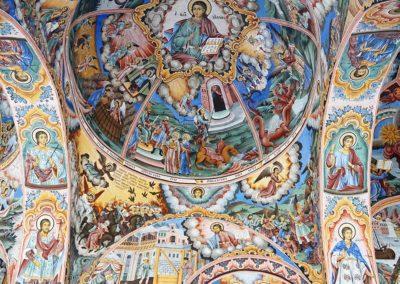 Detalle frescos Monasterio de Rila